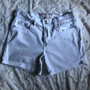 Levis High Waisted White Jean Shorts Size 12